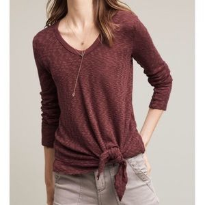 Anthropologie Left of Center Front Knot Top - Sz M